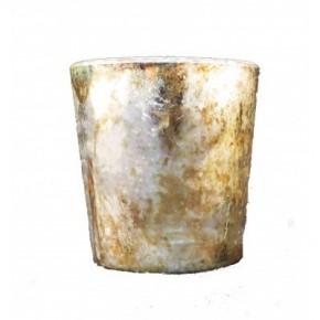 Burnt Gold Mercury Glass Votive Set of 3