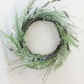 Baby's Breath & Fern Wreath