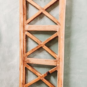 Triple Cross Wooden Shutter