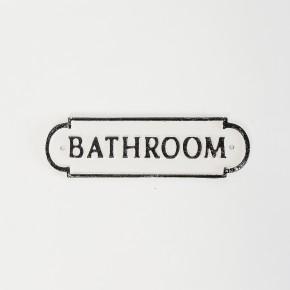 Bathroom Plaque