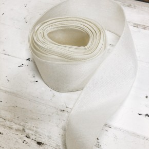 10 Yards of Wired Ivory Denim Ribbon