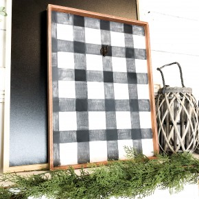 Buffalo Plaid Wreath Frame Craft Box