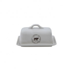 Stoneware Cow Butter Dish