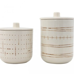 Stoneware Canister Set of 2
