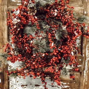 Red Berry and Pinecone Wreath
