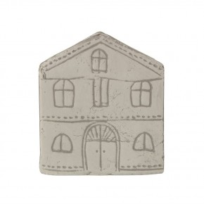 Decorative Etched Cement House Container