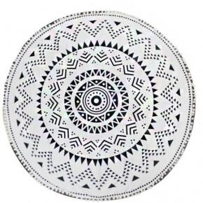 Mandala Geometrical Circle Beach Towel