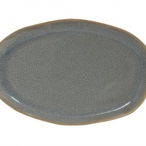 Blue Glazed Stoneware Plate
