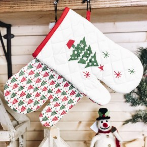 Christmas Tree Oven Mitt