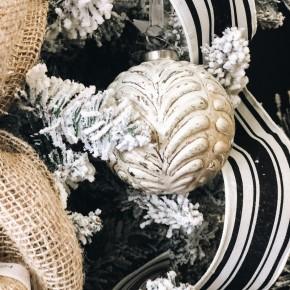 Distressed Glass Ornament