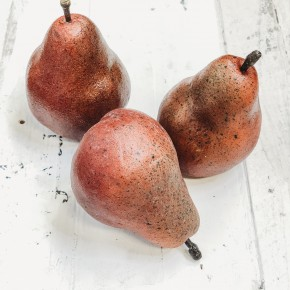 Red Pear Set of 3