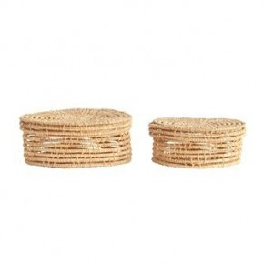 Hand-Woven Palm Boxes