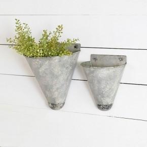 Tin Cone Wall Planter
