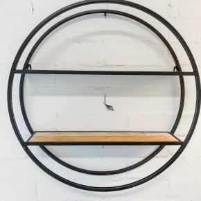 Industrial Round Wall Shelf
