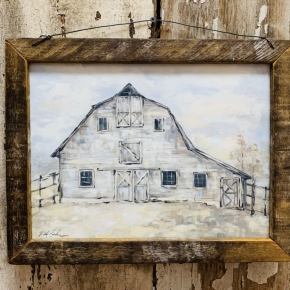 Tobacco Frame Barn Painting