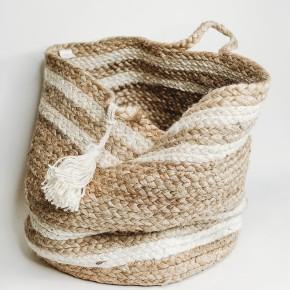 Natural Striped Basket