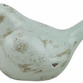 GLAZED STONEWARE BIRD