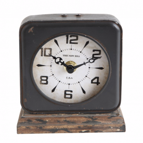 Mantle Clock With Distressed Ivory Face