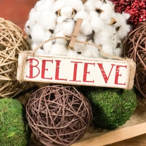 Believe Ornament with Clip