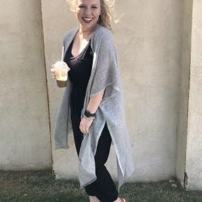 Grey Woven Kimono