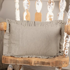 Charcoal Ticking Stripe Pillow