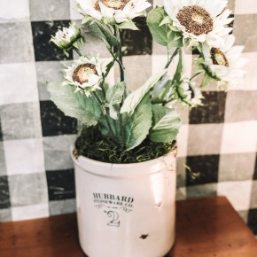 Ivory Sunflower Stem