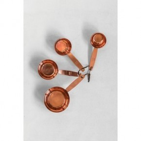 Copper Measuring Cups w/ Leather Tie