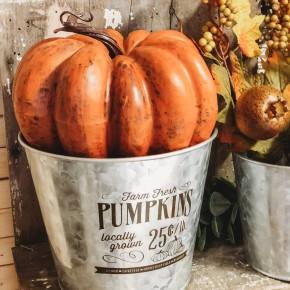 Large Copper Pumpkin