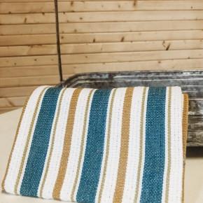Planters Stripe Kitchen Towel S/3 Teal