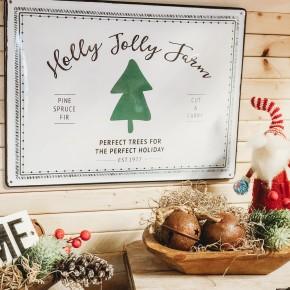 Holly Jolly Farm Sign