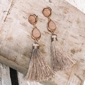 Druzy Tassel Earrings