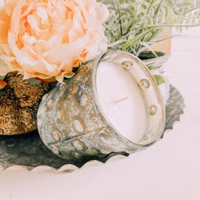 Distressed Hobnail Candle