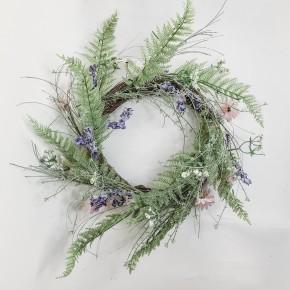 Daisy & Lilac Wreath