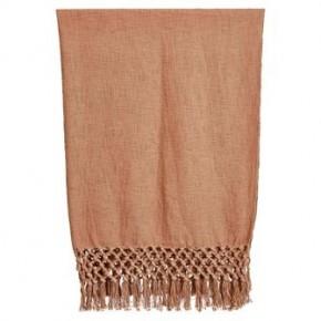 Crochet & Fringe Cotton Throw