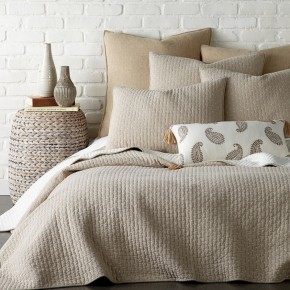 Cross Stitch Taupe Quilt Set