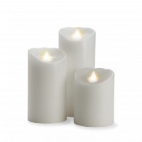 Flame Moving Candle Set of 3