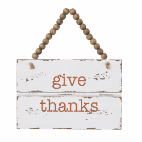 Give Thanks Trim Sign