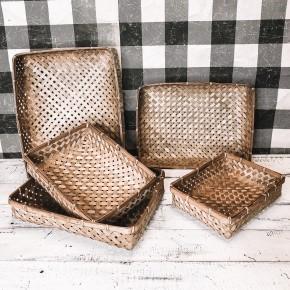 Tobacco Basket Tray Set of 5