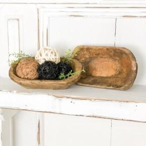 Mini Handcarved Dough Bowl