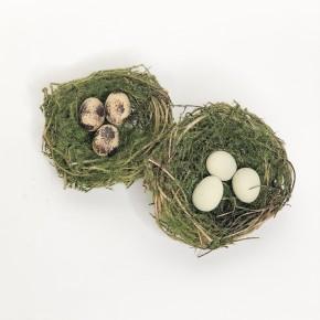Bird Nest Clip w/ Green Moss