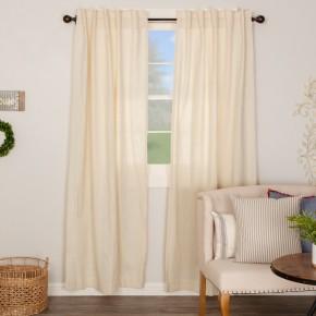 Regina Creme Panel Curtain Set Of 2
