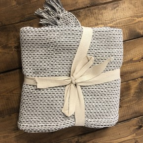 Two-Toned Gray Throw