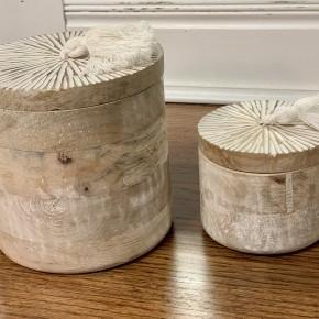 Round Wood Box Set of 2