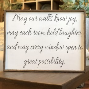 May Our Walls Sign Craft Box