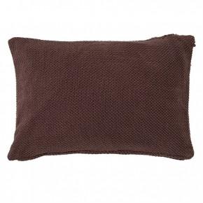 Plum Knit Cotton Pillow