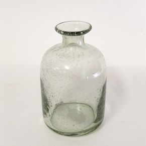 """7"""" Recycled Green Glass Vase"""