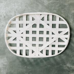 White Oval Tobacco Basket