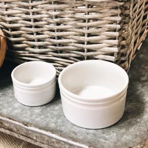 Stoneware Vintage Reproduction Ramekins S/2