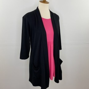 3/4 Sleeve Perfect Year-Round Cardigan in Black