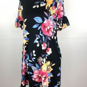 Sweet Floral Ruffle Sleeve Dress